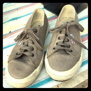 Superga beige leather sneakers. Size 38/7.5